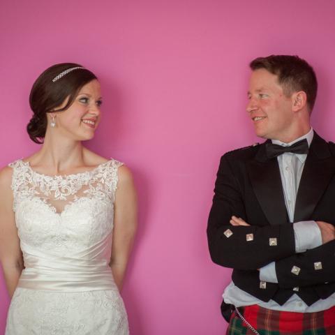 Lifestylefoto.com Wedding Photography by John Grayston - Pink Wedding Wall