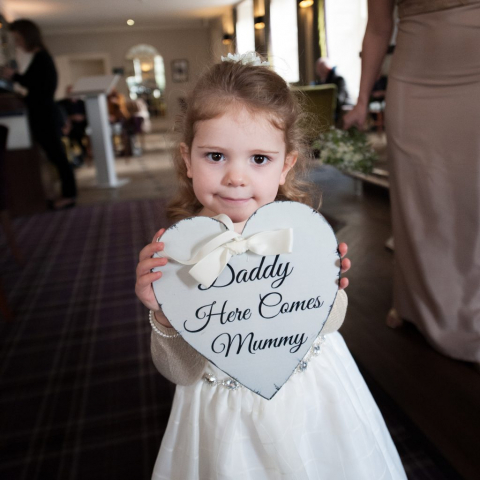 Wedding Photo Services by John Grayston - Daddy, here comes Mummy!!
